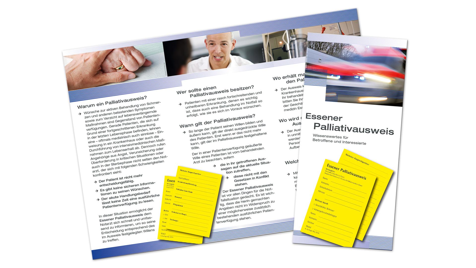 NPE – Flyer zum Palliativausweis der Stadt Essen